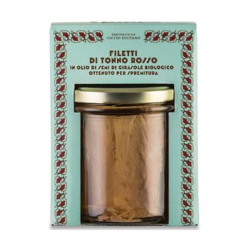 Filetti Tonno Rosso in olio di semi di girasole bio 320 GR