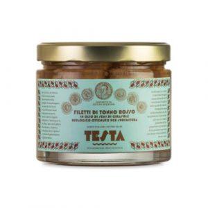 Filetti Tonno Rosso in olio extra vergine di oliva bio 620 GR