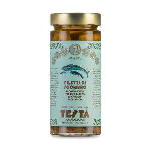 Sgombro in olio extra vergine d'oliva bio IGP 290 GR