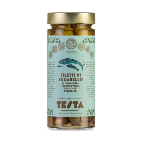 Sugarello in olio extra vergine d'oliva bio IGP 290 GR