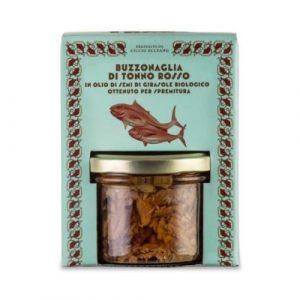 Buzzonaglia di Tonno Rosso in olio di semi di girasole bio 190 GR
